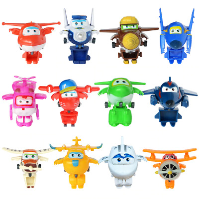 12 Style Super Wings Mini Deformation TV Character Robot Action Figure Kids Toy
