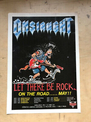 ONSLAUGHT LET THERE BE ROCK MEMORABILIA original music press advert from 1989  -