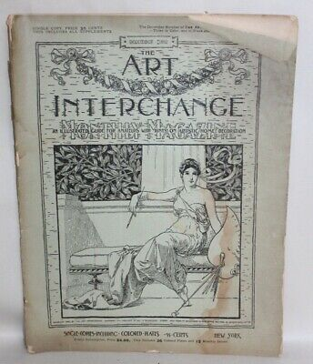 ANTIQUE Arts & Crafts Era Magazine THE ART INTERCHANGE December 1892