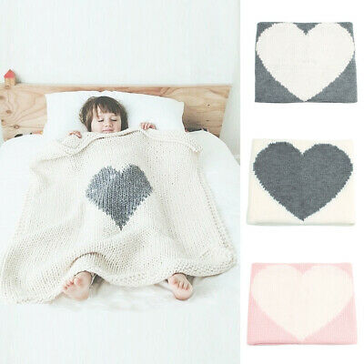 Rabbit Soft Warm Swaddle Knitting Bedding Quilt Crib Wrap Baby Throw Blanket