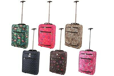 Cabin Case Lightweight Hand Luggage Airline Approved Travel Bag Wheels Handle