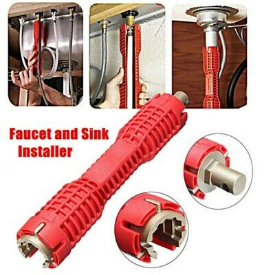 Sink Basin Faucet Wrench Double Head Sink Install Tap Spanner Installer Tools