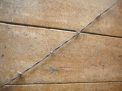 ROSS FOUR POINT ALUMINUM BARBS on LIGHT WEIGHT STEEL LINES - ANTIQUE BARBED WIRE