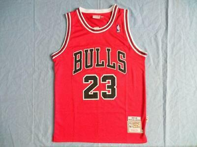 Brand New NBA Jersey Michael Jordan #23 Chicago Bulls Retro Red UK SELLER