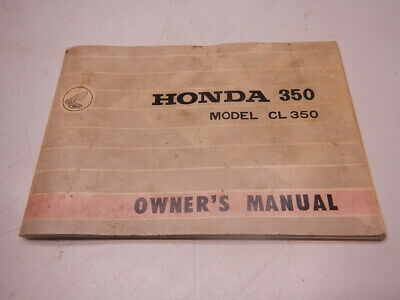 1968 Honda Owner's Manual CL350 350 CL 84 Pages 68