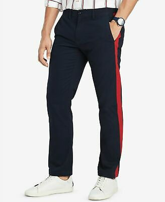 NWT Tommy Hilfiger Men's Custom Fit Side Stripe Chino Pants Choose Colors Sizes