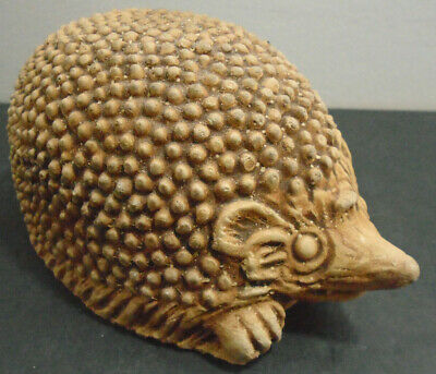 Vintage Architectural Cement Hedgehog Made In England Marked