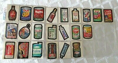 1973-Topps Wacky Packages Series 2-Org Set 22 Of 33- Plus 11 Extra-33 Total