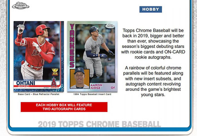 2019 Topps Chrome Baseball Hobby Live Pick Your Player (Pyp) 1 Box Break