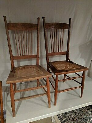 Antique Pressback Chairs Set of six