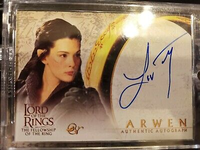 LOTR  The Fellowship of the Ring Autograph LIV TYLER (ARWEN) MINT
