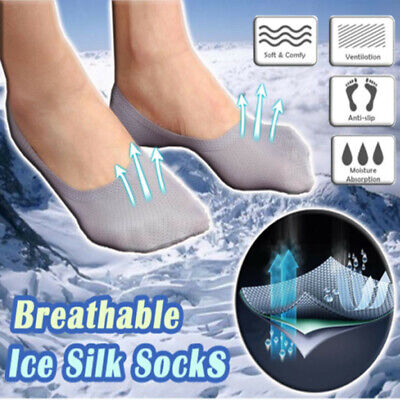 3Pairs Breathable Ice Silk Socks Men Solid Summer Soft Non-Slip Thin Sports Set