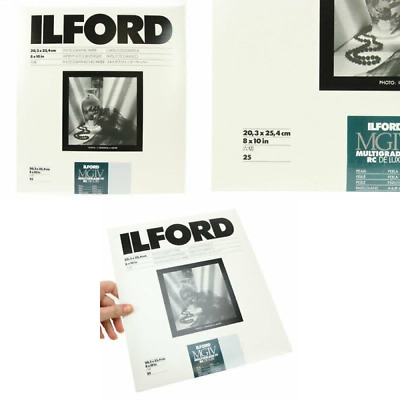 """Ilford Multigrade IV RC Deluxe 8"""" x 10"""" 25 Sheets Pearl Paper"""