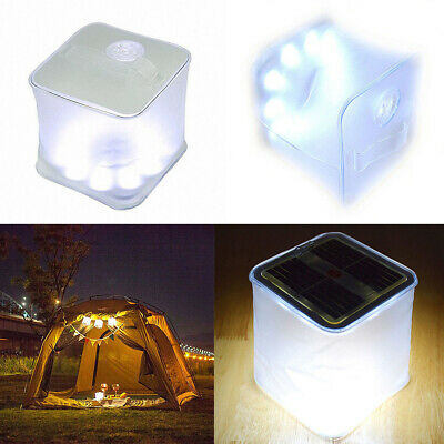 LED Foldable Solar Power Inflatable Tent Camping Light Emergency Outdoor La V8B6