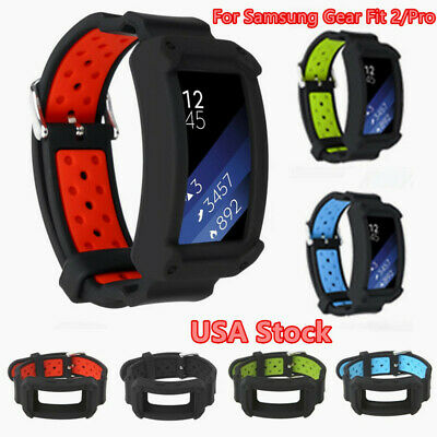 For Samsung Gear Fit 2/Pro Smart Watch Replacement Silicone Wrist Band Strap USA