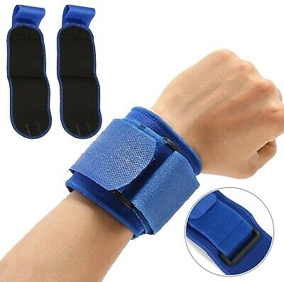 Weight Lifting Wrist Straps Power Training Blue Hand Wrist Bar Support Exercise