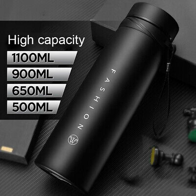 Leak-proof Stainless Steel Water Bottle Vacuum Insulated Sports Gym Travel Mug