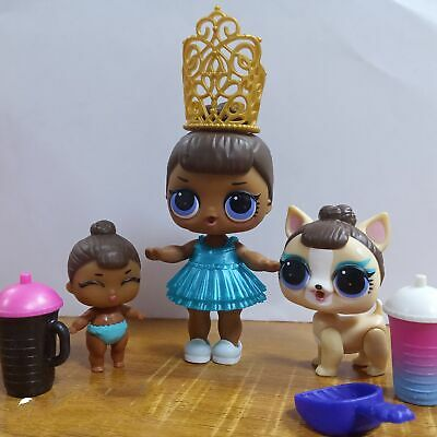 3PCS LOL Surprise MISS BABY Family Big Sister & LiL Sis & Pet Glam CLUB Doll Toy
