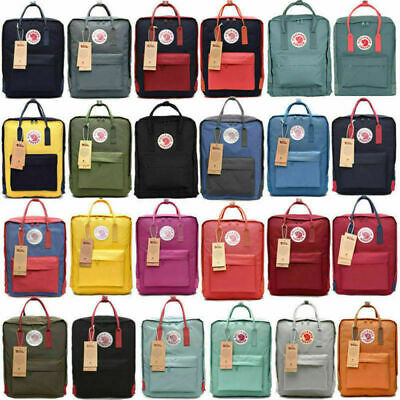 20L/16L/7L Fjallraven Kanken Canvas Backpack Sport Arrival Handbag Mini/Classic
