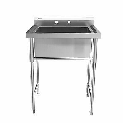 "30"" Stainless Steel Utility Commercial Square Kitchen Sink for Washing Room New"