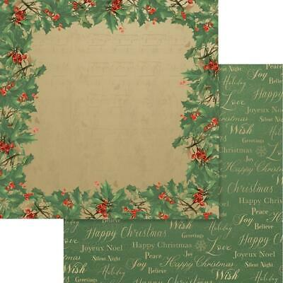 """Couture Creations - NAUGHTY OR NICE 10 - 12x12"""" d/sided scrapbooking paper"""