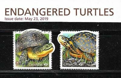 Lot #   19  /  10    Canada  2019    Endangered Turtles  Cpl Set  Used