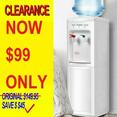 Water Cooler Dispenser Mains Bottle Stand Hot Cold Tap Filter Office Household
