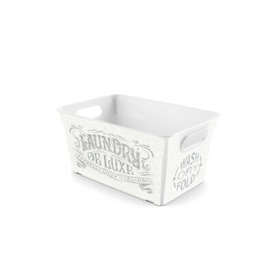 KIS  5-1/2 in. H x 11-1/2 in. D x 7-1/2 in. W Stackable Storage Basket