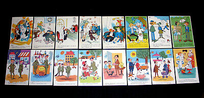 LOT A61 : 16 CPSM HUMOUR FANTAISIE ILLUSTRATION PIN-UP ARMEE MARIAGE 3eme AGE