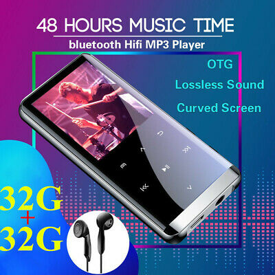 32+32GB TF bluetooth HiFi OLED Touch Mirror Screen Music MP3 MP4 Player Recorder
