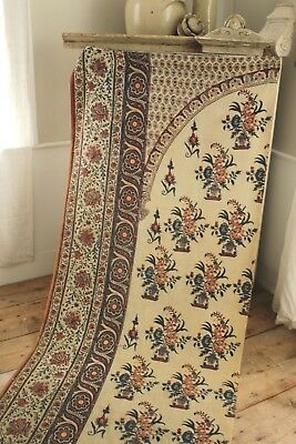 antique textile Kalamkari Indian paisley Persian Ghalamkar textile c 1800-1850