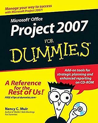 Microsoft Office Project 2007 For Dummies, Muir, Nancy C., Used; Good Book