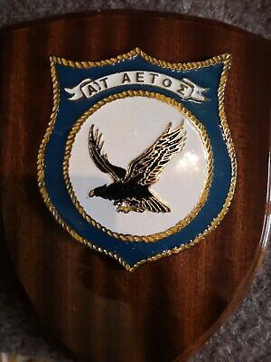 Rare Greek Destroyer AETOS Coat of Arms Vintage Emblem NAVY