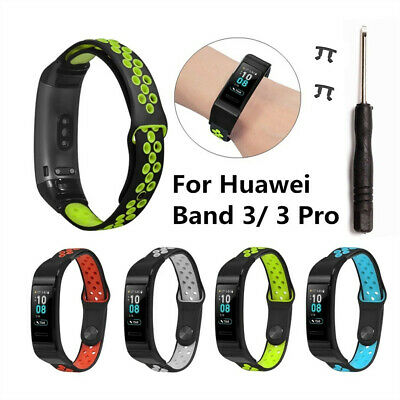 Replacement Soft Silicone Sports Watch Band Wrist Strap For Huawei Band 3/3 Pro
