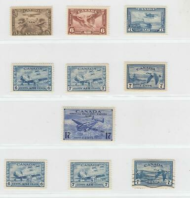 "Canada # Oc1-Oc5-Oc9+Oce4+Extras Vf-Mnh 4 Hole ""Ohms"" Issues Cat Value $690++"