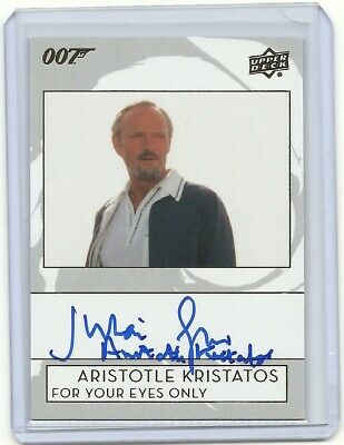 2019 UD James Bond Julian Glover Aristotle Kristatos INSCRIPTION autograph card