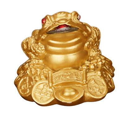 Lucky Three-Leg / Ching Bagua Coin Toad Frog Fortune Feng Shui 5.5cm Gold