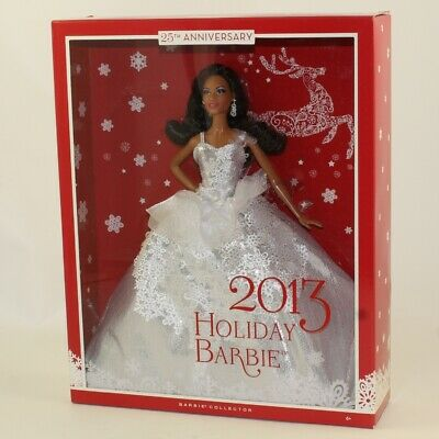 Mattel - Barbie Doll - 2013 25th Anniversary Holiday AA *NON-MINT BOX*