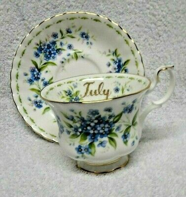 Royal Albert Flower of the Month July  Cup and Saucer