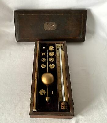 Antique Victorian Sikes A Williamson Rochdale Hydrometer & R Wade Boxwood Ruler