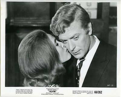 Michael Caine Being Kissed By Millicent Martin Alfie Original 8X10 Photo