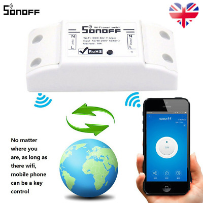 2018 Sonoff Smart WiFi Wireless APP Switch Module Control for Apple Android/IOS