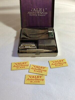 Vintage Valet Autostrap Safety Razor in box with Blades and Strap