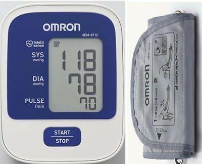 OMRON HEM 8712 AUTOMATIC BLOOD PRESSURE (BP) MONITOR - Free Shipping