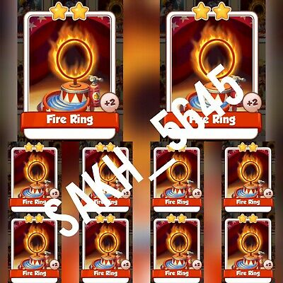 10 x Fire Ring Faster delivery :- Coin Master Cards