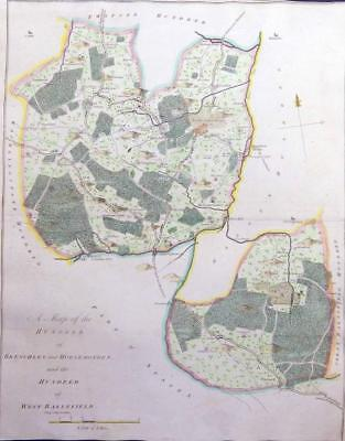 1778 HASTED KENT Map HUNDRED BRENCHLEY HORSEMONDEN WEST BARNFIELD