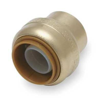 "SHARKBITE U518LF 3/4"" Push-to-Connect DZR Brass End Stop"