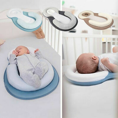 AU Infant Baby Newborn Pillow Cushion Prevent Flat Head Sleep Nest Pod Anti Roll
