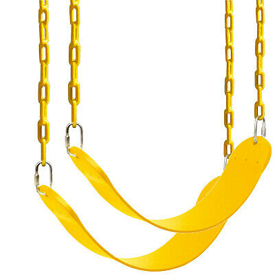 2 Pack Outdoor Heavy Duty Swing Seat Set Kids Play Hanging Replacement w/ Chains