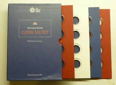 Great British Coin Hunt UK £1 Pound Coin Collection Empty Album Holds 48 Coins